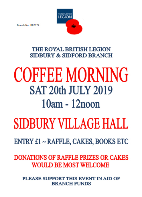 British Legion Coffee Morning