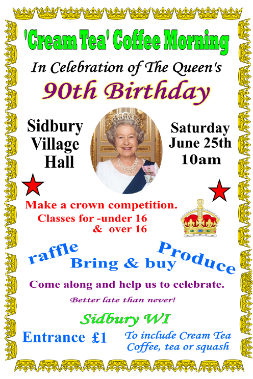 Queens Birthday Coffee Morning