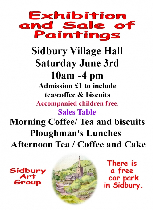 Sidbury Art Group Exhibition and Sale of Paintings