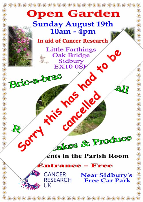 Open Garden Cancelled