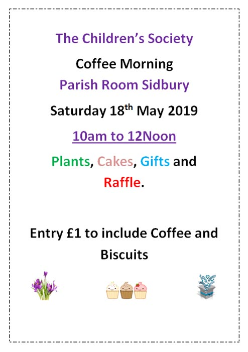 Childrens Society Coffee Morning