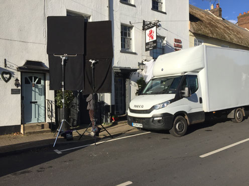 Filming at the Red Lion