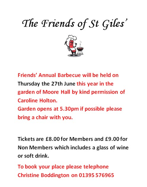 Friends of St Giles BBQ