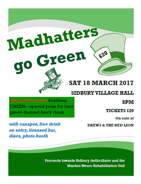 Mad Hatters Go Green
