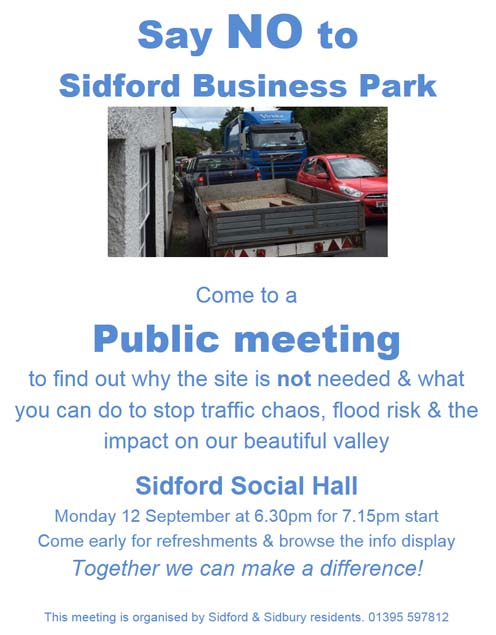 Say No to Sidford Business Park