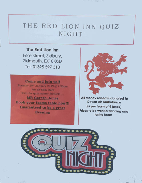 Red Lion Quiz Night