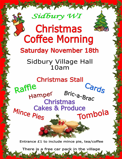 WI Christmas Coffee Morning